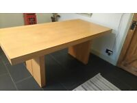 MORRIS OAK DINING TABLE,1800MM LONG, 900MM WIDE,75MM THICK. EXCELLENT CONDITION