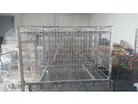 shop cage great for displaying and cardboard remove 4 wheels adjustable shelves