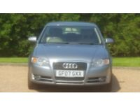 AUDI A4 2.0 SE 170 TDI 07PLATE 2007 LADY OWNED 112000 MILES FULL SERVICE HISTORY LEATHER AC ALLOYS