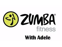 Zumba Fitness with Adele - Mondays from 29.01.18 - 9.30am - 1st class always FREE
