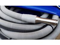 1 1/2 inch / 38 mm Vacuum & V2 Fully Sleeved High Pressure Hose 50ft / 15.2m Length Set + Bag