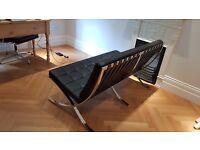 Barcelona Sofa - 2 Seater in Black Leather
