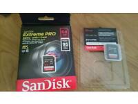 ScanDisk 64GB Extreme Pro 95MB/Sec SDXC SD Card