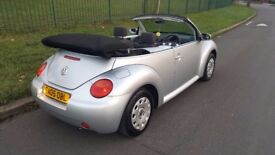 VW BEETLE 1.4 CONVERTIBLE 1 OWNER FROM NEW IMMACULATE FULL SERVICE HISTORY 1 YR WARRANTY 1 YR MOT