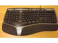 Microsoft Natural Ergonomic Keyboard 4000 Wired USB Keyboard