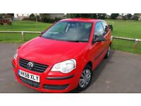 *REDUCED* VW Polo 1.2 E 2008 FSH Low mileage 51k petrol manual MOT 02/18 excellent condition