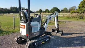 Mini digger hire rent Rochford Southend Essex Shoeburyness hockley