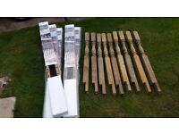 Wickers Deck Railing kit with balusters Tuscany style