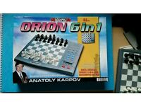ORION 6 in 1 Chess, Checkers (Draughts)etc