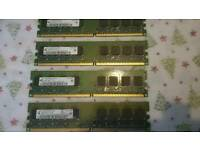 4 x 512mb 1Rx8 PC2-5300U-555-12-DO desktop memory