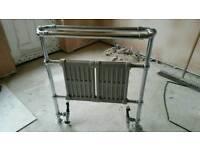 Heated rail radiator