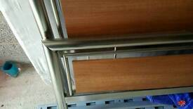 Silver and Wood Double Bed Frame