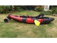 Galaxy sit on kayak/canoe for sale£250 including all kits troly