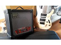 Ibanez s771pb nf guitar/Roland cubex20 amp/h case/stand/strap/tuner all as new