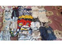 Bundle of 0-3 baby boy clothes