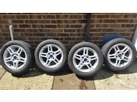 Perfect Fiesta alloy wheels x4 with tyres