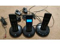 BT GRAPHITE 2500 Trio Cordless Telephone (faulty)
