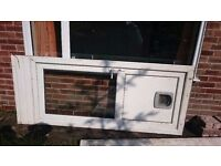 Double glazed rear door with glass white pvc 5 point locking system used but great condition
