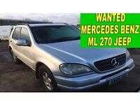 Mercedes Benz ml 270 CDI diesel manual auto wanted!!!
