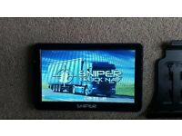 "BRAND NEW & BOXED 7"" SAT NAV SNIPER TRUCK NAV SN-701T IDEAL FOR MOTORHOME, RV AND CARAVAN OWNERS"