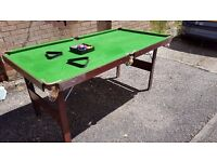 6ft Snooker/Pool Table (Folding)