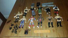 11 wrestling figures