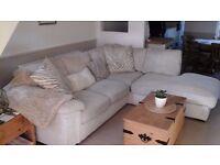 Lovely cream jumbo cord corner sofa £250