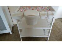 baby changing unit plus storage tubs