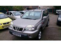 2002 NISSAN X TRAIL 2.0L SPORT 5 DOOR ESTATE IN SILVER FEB 2017 MOT ONLY 75K WITH F/S/HISTORY CD E/W