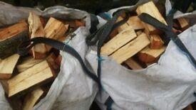 logs unseasoned hard wood £55 for 2 dumpy bags