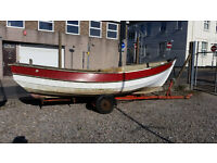 Yorkshire Cobble type 16' GRP Boat and Road Trailer