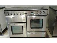 RANGEMASTER TOLEDO 110 ELECTRIC WITH CERAMIC HOB IN STAINLESS STEEL