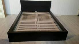 Ikea Malm Black Double Bed Frame