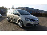 2005 (55 Reg) Vauxhall Zafira 1.6 i 16v Life 5dr For £695, Full 12 Months Mot on Sale