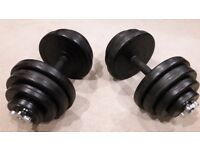 BODYMAX DELUXE 40KG RUBBER DUMBBELL WEIGHTS SET