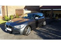 BMW M135i +BMW WARRANTY +SERVICE PACK +SAT NAV +SPORT AUTOMATIC +ADAPTIVE M SUSPENSION