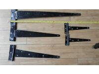 5 Heavy duty shed/gate Door Hinges, 3 different size