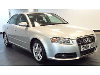 2006 06 AUDI A4 2.0 TDI S LINE TDV 4D 140 BHP DIESEL *PART EX WELCOME*FINANCE AVAILABLE*WARRANTY*