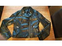 Leather look jacket size 14