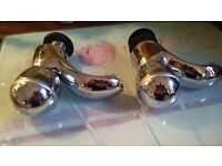 Beautiful set of polished chrome taps with H and C engraved pure Bargain