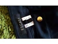Escada black stretch jeans
