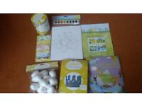 A selection of Easter craft items