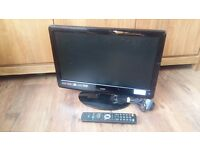 """LOGIK TV, 19"""" TV, WITH REMOTE, FOR REPAIR OR SPARE, £10"""