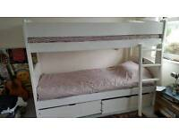 Childrens double bed and mattress