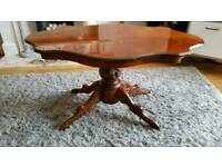 Carved Italian coffee table