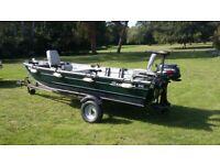 Seastrike 12 ft semi flat boat pike fishing package