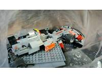Lego style Maclaren F1 Vodafone and pitstop