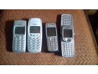 4x NOKIA PHONES FOR SALE / £30 THE LOT OR WILL SPLIT AND SELL ONE BY ONE