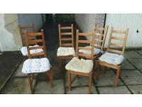 6 ikea kaustby chairs