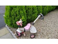 Smart Trike, Pink children's trike girls trike, bicycle, buggy